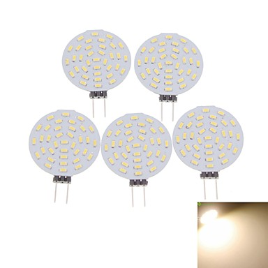 5 x G4 MR11 GU4 GZ4 4W 36x4014SMD LED 3000K/6000K Warm White/Cool White Round Shape LED Bulb AC/DC12V