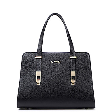 Buy NAWO Women Cowhide Tote Black-N153331
