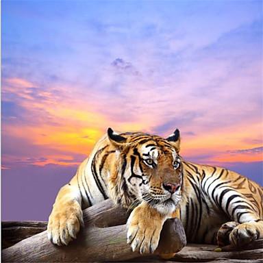 9 39 8 x 8 39 2 ft custom photo wallpaper tiger landscape for Foto murali 3d
