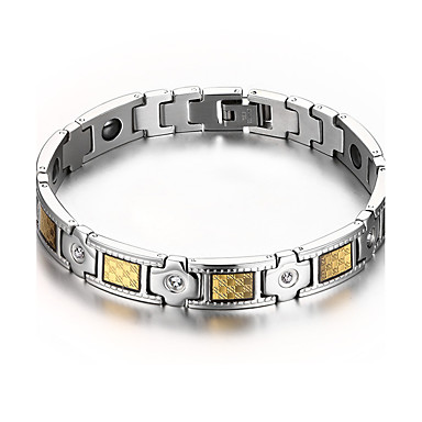 men s jewelry health care silver stainless steel magnetic