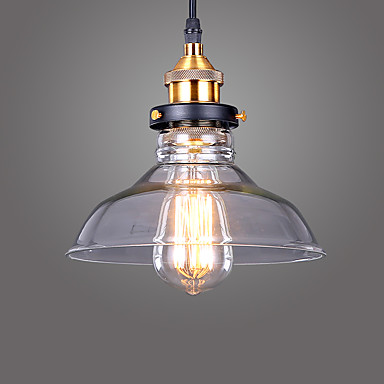 Industrial Edison Simplicity Glass Pendant Lights Metal