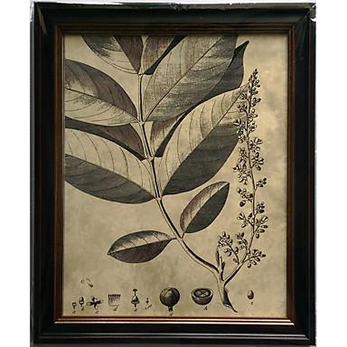 Toiles tendues a fleurs botanique classique style for Decoration murale verticale