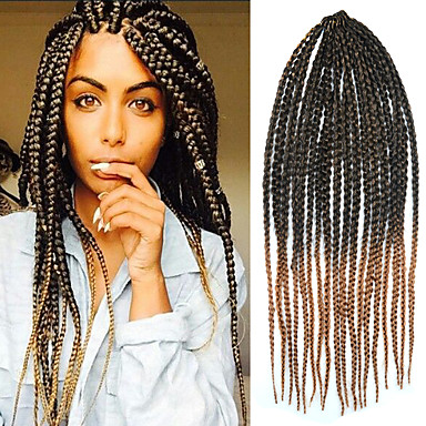 Crochet Box Braids Big : Crochet Twist Large Box Braid 24 Kanekalon 3 Strands 100g Hair Braids ...