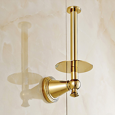 Gold Plated Fishinging Bathroom Accessories Solid Brass Material Toilet Paper Holders 5216600