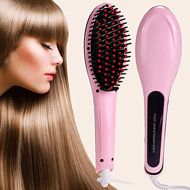 Professional Straightening Irons Come With LCD Display Electric Straight Hair Straightener Iron Brush Comb