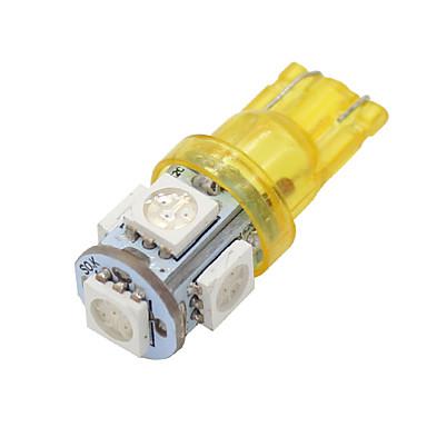 Buy 4X T10 168 Amber Yellow High Power 5050 Chip Interior 5 LED Light Bulbs W5W 194