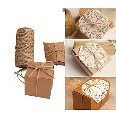 100m christmas hemp jute rope cord marline for wedding favors candy boxes diy decor size 1 - Deco moderne binnenmuur ...