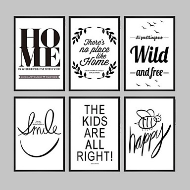 Buy E-HOME® Framed Canvas Art, Simple Patterns Letters English Print One Pcs