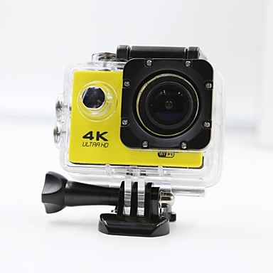 Sports Action Camera 4K WIFI Waterproof 12MP High Defenition 2.0 Inch Sports DV 170 Degree Yellow