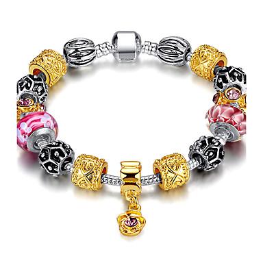 Buy Fashion Women DIY jewelry Beaded glass beads Europe charm bracelet Silver Bracelet