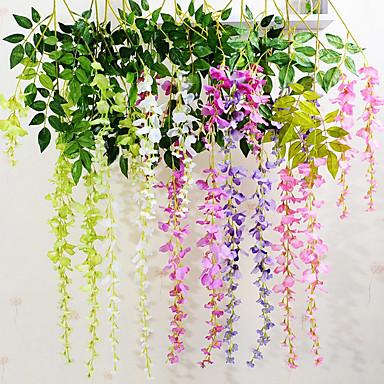 Simulation Silk Violet Flower Rattan Home Decoration