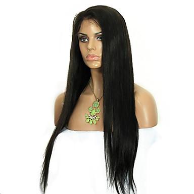 Buy 100% Virgin Malaysian Full Lace Human Hair Wigs Straight Wig Black Woman Stock 8-24 Inch