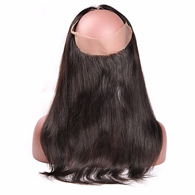 360 lace frontal closure with baby hair piece straight