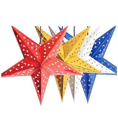 45cm christmas laser paper star christmas hanging for 3d star decoration