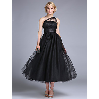TS Couture® Prom / Formal Evening / Wedding Party Dress - 1950s / Vintage Inspired Plus Size / Petite A-line / Princess One Shoulder Ankle-length