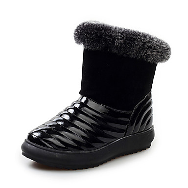 s winter boots real fur leather snow boots
