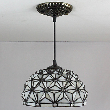 25W Pendant Light , Tiffany / Vintage Painting Feature for ...