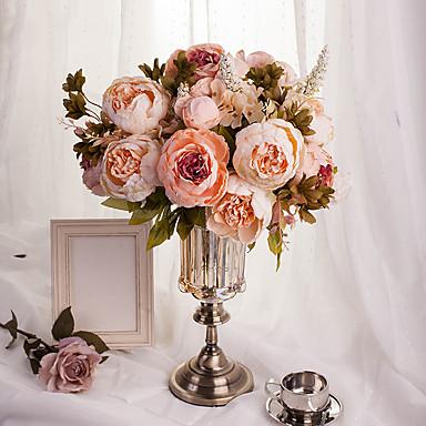 1 Bouquet Artificial Flowers 8 Heads Artificial Peonies