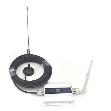 LCD Display Mini GSM 900MHz Mobile Phone Signal Booster , GSM Signal Repeater + Antenna with 10m Cable