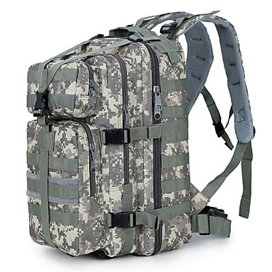 Backpack Hiking Tactical Outdoor Double Shoulder (30L) Outdoor Camo Backpack Rucksack Camping Hiking Trekking Shoulder Bag Pack