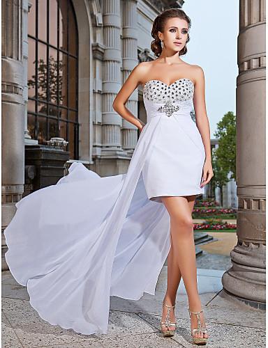 Vestido assimétrico branco