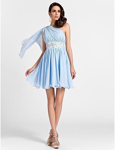 Vestidos curtos azuis claros