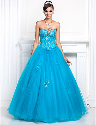 Buy TS Couture® Prom / Formal Evening Quinceanera Sweet 16 Dress - Open Back Plus Size Petite A-line Princess Strapless Sweetheart Floor-length