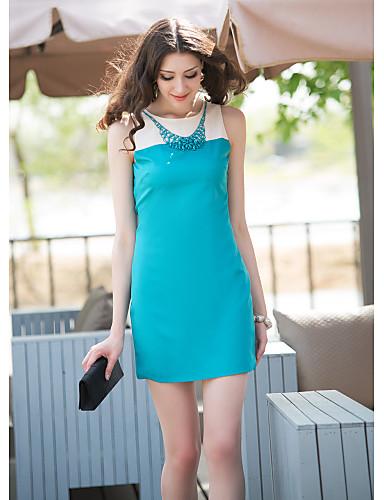 Buy Collar Beaded Sleevless H-Line Dress