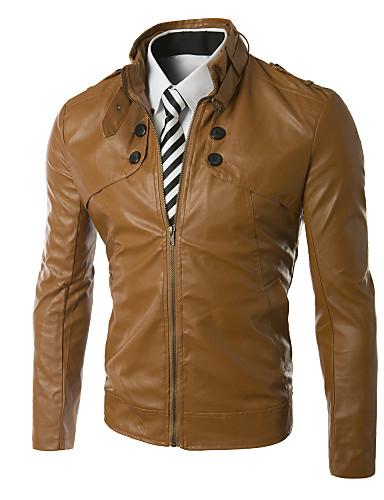Buy X-MAN Men's Short Slim Stand Collar Coat