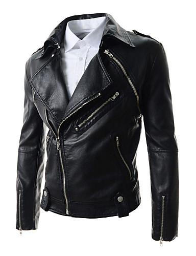 Buy X-MAN Men's Slim Lapel Collar Short Coat