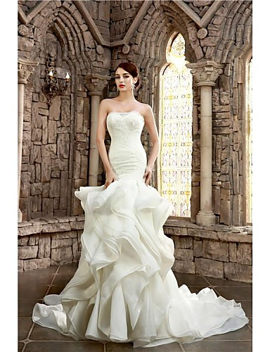 Trumpet mermaid petite plus sizes wedding dress court for Courthouse wedding dress plus size