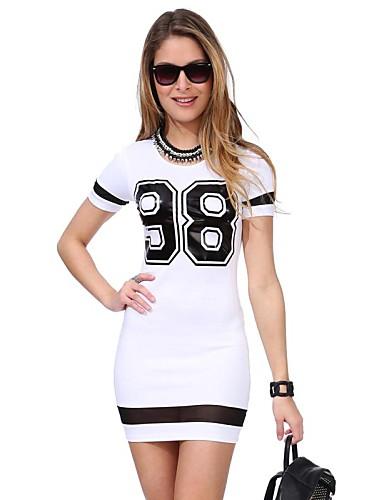 Buy 2015 New Fashion Summer Women Dress Short Sleeve O Neck Number 88 Printed Mesh Patchwork Dresses Roupas Femininas