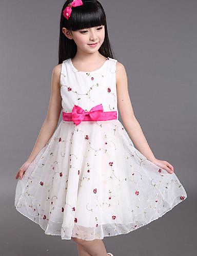 Buy 2015 Retail New Girls Party Princess Dress Beautiful Print 4-12Y Cotton Tutu Dresses