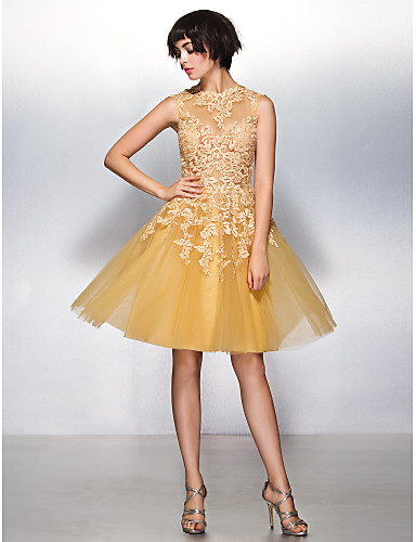 Buy TS Couture® Cocktail Party Dress A-line Jewel Knee-length Lace / Tulle