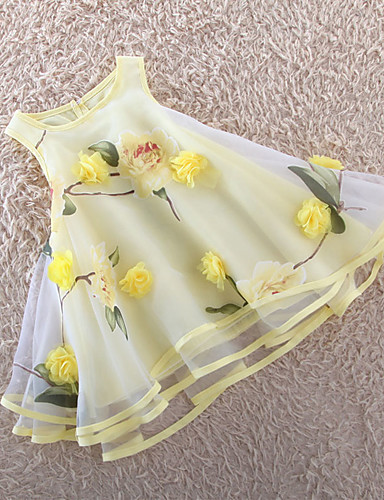 Buy Girl's Girls Dresses Organza Multi-layers Flower Party Pageant Wedding Princess Kids Clothing