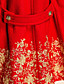 TS VINTAGE Gold Embroidery Wool Blend Dolly Coat