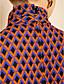 TS Argyle Print High Neck Bow Tie Dress