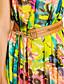 TS Ruff Collar Pleated Dress , Chiffon Maxi Sleeveless