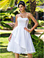 Lanting Bride® A-line / Princess Petite / Plus Sizes Wedding Dress - Classic & Timeless / Chic & Modern / Reception Knee-length Sweetheart