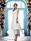 Lanting Bride® Tube / kolonne Plus Størrelser / Petit Brudekjole - Chic og moderne / Glamourøs og dramatisk / Receptionskjoler Assymetrisk