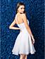 a-lijn / prinses juweel knielange organza cocktail jurk (1483933)