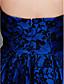 TS couture® выпускного вечера / платье партии компании - 1950-е годы, плюс размер / Миниатюрное линии без бретелек асимметричный кружева с кружевами