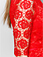ts couture® cocktail party sukienka plus size / wątła otoczka / kolumna wysokiej szyi krótkie / mini koronki z koronką
