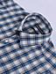 JamesEarl 남성 셔츠 카라 긴 소매 셔츠 & 블라우스 시안 - MB1XC000905