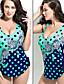 여성의 원-피스 도트무늬 / 주름장식 면 홀터 넥 패드 브라 / 언더와이어 브라