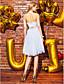 ts couture® cocktail party dress - dwa kawałki-line Halter kolan koronki / satynowe z koronką