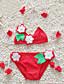 Menina de Roupa de Banho,Praia Floral Acrílico Todas as Estações Azul / Rosa / Vermelho