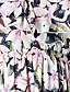 Mousseline de Soie / Swing Robe Aux femmes Plage Bohème,Fleur A Bretelles Maxi Sans Manches Blanc Coton / Polyester Toutes les Saisons