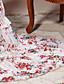 婦人向け ボヘミアン パーティー シース / シフォン ドレス,フラワー ストラップレス マキシ 半袖 ホワイト シルク / ポリエステル オールシーズン