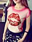 rosa Doll® Feminino Decote Redondo Manga Curta Camisa Rosa-X15BTS105